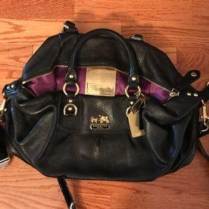 Coach Handbag - Black Leather